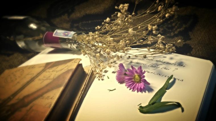 Ý tưởng đến khi một ngày đẹp trời Uyên Linh và Quốc Thiên cover lại bài Chiếc lá mùa đông. Hôm đấy cũng tình cờ mua một bó thạch thảo. Chưa bao giờ mình thấy yêu màu tím đến thế. Chưa bao giờ mình thấy yêu mùa đông đến thế.