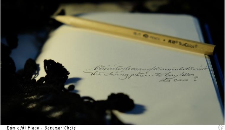 Một bài thơ lạ tôi đọc ở Tumblr. Tôi chỉ chú ý đến hai dòng cuối của bài thơ.