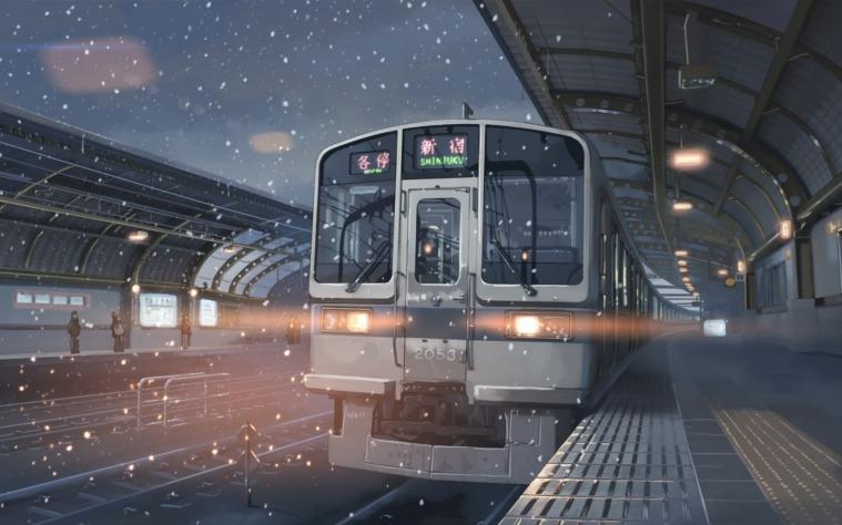 Có rất nhiều hình ảnh chuyến tàu trong truyện.